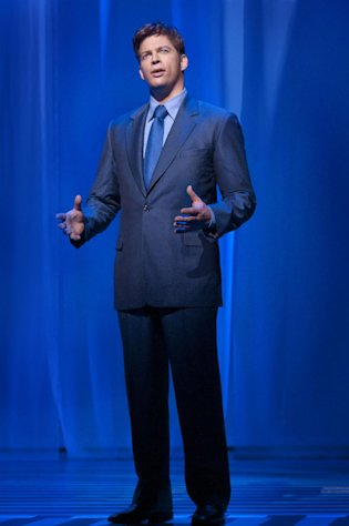 "In this theater image released by The Hartman Group, Harry Connick Jr., performs in the musical ""On a Clear Day You Can See Forever,"" in New York. (AP Photo/The Hartman Group, Nicole Rivelli)"