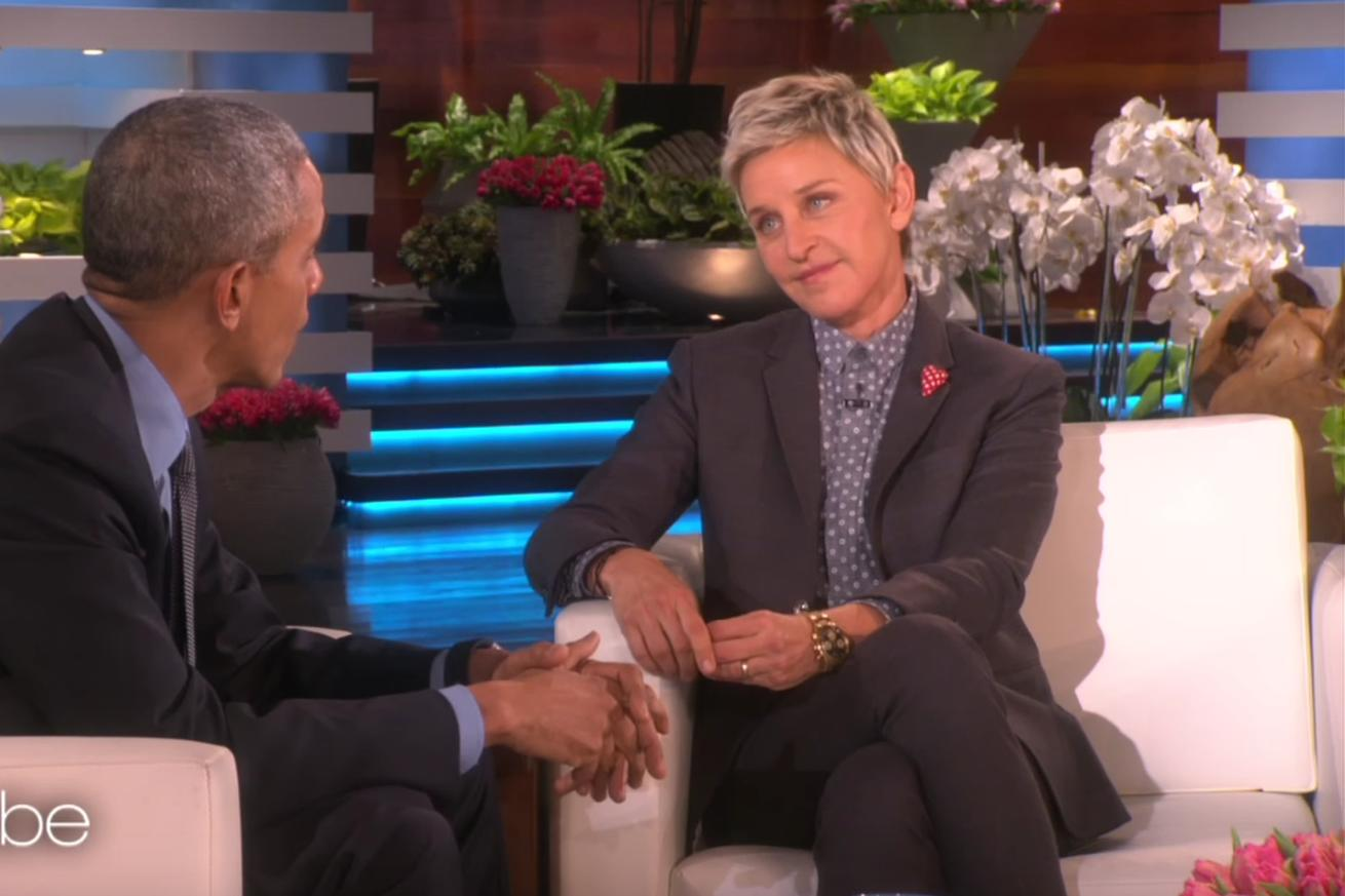 Watch: Ellen thanked Obama for his work on gay rights. He said she deserves more credit.
