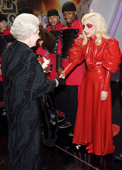 Queen Elizabeth Lady Gaga Ryl Vrty