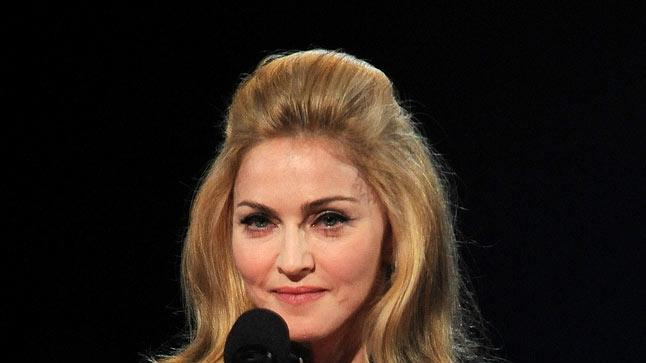 Madonna speaks onstage during the 2009 MTV Video Music Awards at Radio City Music Hall on September 13, 2009 in New York City.