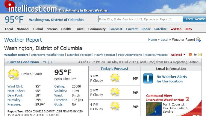 Exactly How Hot Is It? Picking the Right Weather Site for You