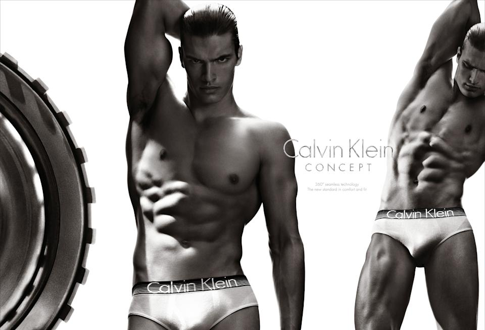 This undated screenshot provided by Calvin Klein shows the company's Super Bowl advertisement for the company's Concept brand. (AP Photo/Calvin Klein)