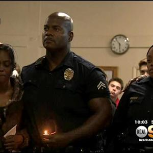 Candlelight Vigil Held For Man Fatally Shot By LAPD In Skid Row
