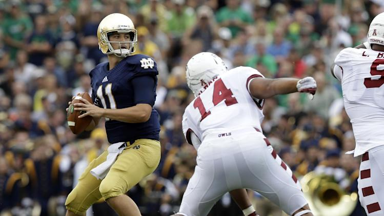 Rees leads No. 14 Irish to 28-6 win over Temple