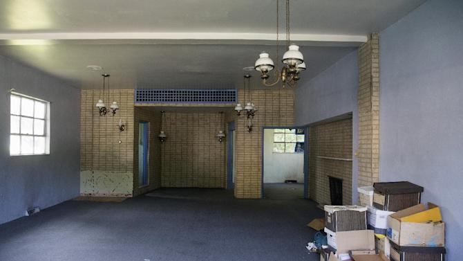 inside of the former Minus Funeral Home