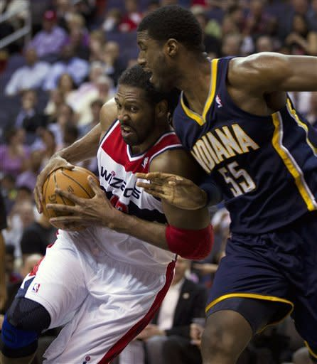 Pacers rally from 22 down to beat Wizards, 85-83