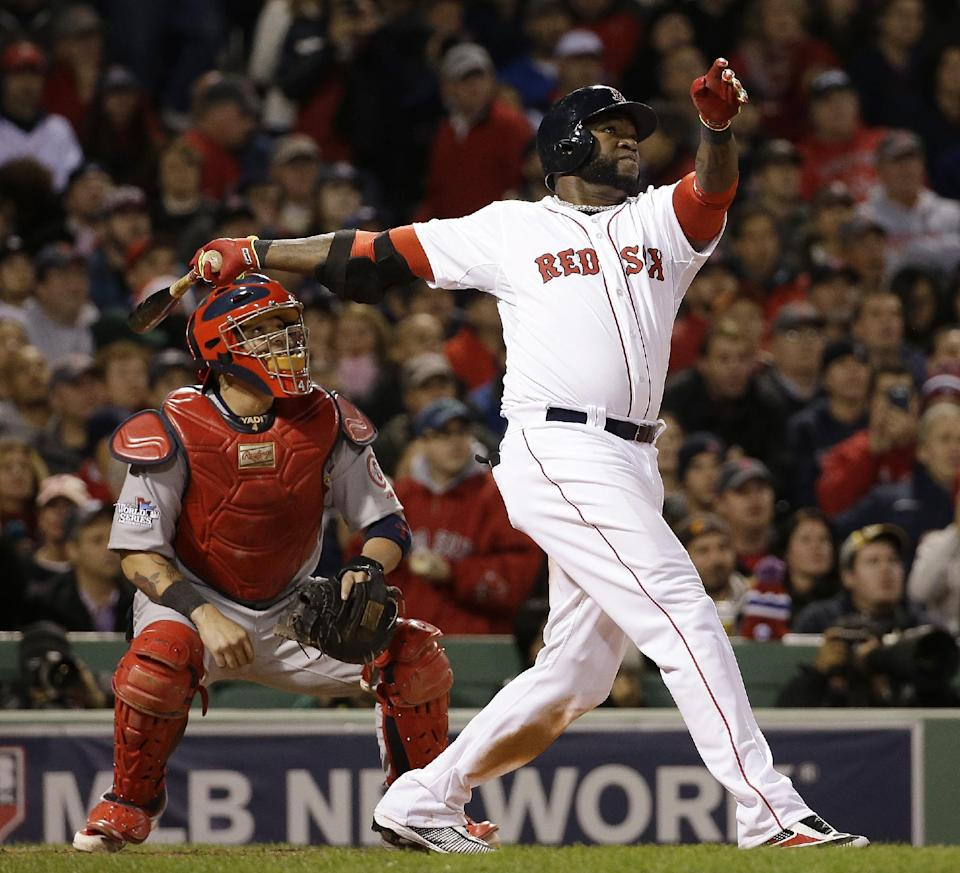 Ortiz HR off Wacha, Red Sox lead Cards 2-1 thru 6