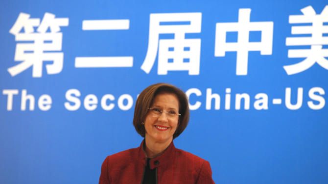 FILE - In this Tuesday, Oct. 26, 2010, file photo, Inez Moore Tenenbaum, chairman of the U.S. Consumer Product Safety Commission, appears during a joint news conference following the second China-EU-US high-level Trilateral Summit on Product Safety in Shanghai, China. Federal regulators failed to pursue recalls after they found cadmium-tainted jewelry on store shelves, despite their vow to keep such toxic trinkets out of children's hands, an Associated Press investigation shows. (AP Photo/Eugene Hoshiko, File)