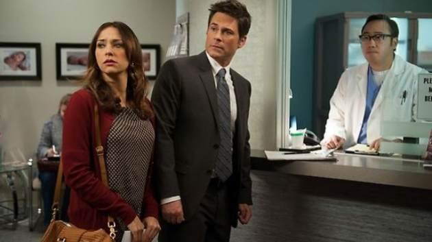 Rob Lowe & Rashida Jones seen on NBC's 'Parks And Recreation' -- NBC