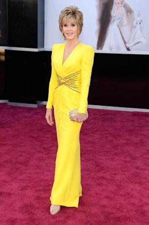 Jane Fonda arrives at the Oscars held on February 24, 2013 in Hollywood, Calif. -- Getty Images
