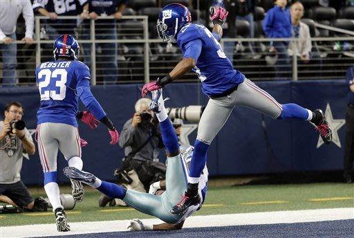 Giants blow 23-point lead, but win 29-24 at Dallas
