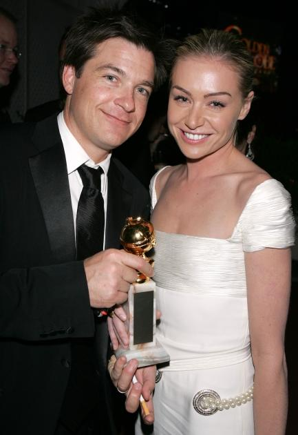 Jason Bateman and Portia de Rossi poses at the Fox Golden Globe After Party at the Beverly Hilton Hotel on January 16, 2004 -- Getty Images