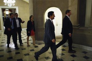 U.S. House Majority Leader Cantor walks into the offices …