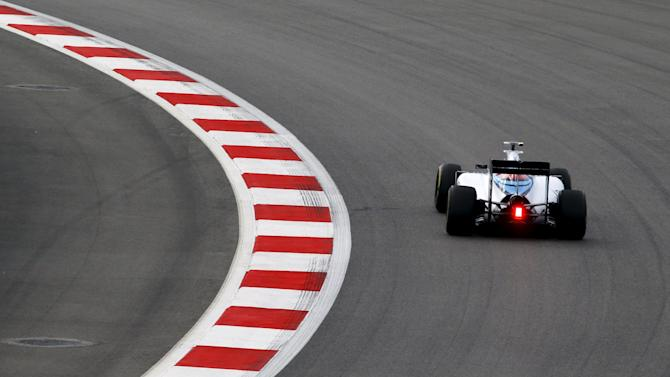 Williams Formula One driver Valtteri Bottas of Finland drives during the third practice session of the Russian F1 Grand Prix in Sochi