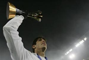 Italian club AC Milan's Kaka celebrates their victory over Argentine club Boca Juniors at the FIFA Club World Cup Japan 2007 final soccer match in Yokohama
