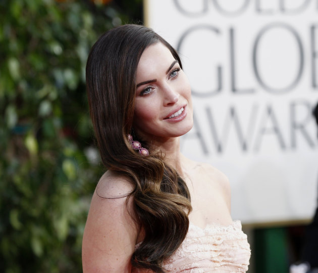 Actress Megan Fox arrives at the 70th annual Golden Globe Awards in Beverly Hills