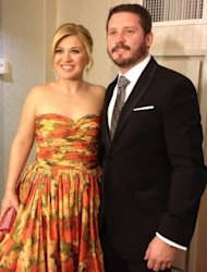 Kelly Clarkson & Brandon Blackstock getting ready for the Inaugural Ball in Washington DC on January 22, 2013 -- Twitter