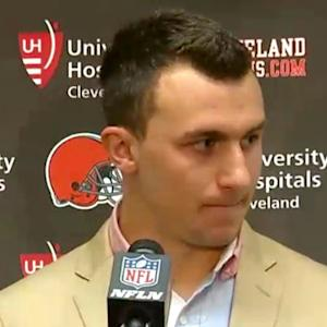 Cleveland Browns quarterback Johnny Manziel: I get words exchanged with me every game