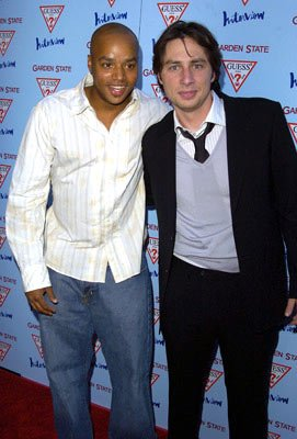 Premiere: Donald Faison and Zach Braff at the Los Angeles premiere of Fox Searchlight's Garden State - 7/20/2004