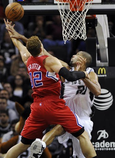 Paul and Griffin lead Clippers over Spurs 92-87