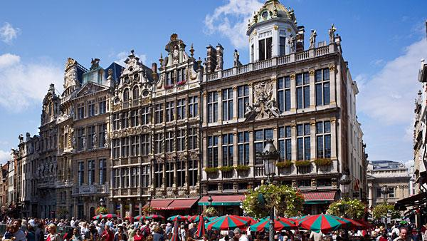 5. (Tied) Belgium Highest income tax rate: 50%  Average 2010 income: $52,700   Belgium's highest tax rate of 50 percent is 5 percentage points higher than the average for Western Europe, which has the highest personal tax rates of any region globally.   The highest marginal tax rate kicks in at $46,900 of income. The country's employee social security rate is 13 percent with employer contributions at 35 percent. Municipal taxes can be up to 11 percent of income, while nonresidents pay a fixed 7 percent rate. Capital gains tax is either 16.5 percent or 33 percent, though taxpayers can get some exemptions. For expatriates, if an executive travels 25 percent of their time on business, then the top marginal tax rate can be reduced to 40 percent of income.   Belgians have the highest tax and social security burden, according to a recent OECD study. In 2011, single taxpayers with an average income took home less than 45 percent of what they cost their employer. Taxpayers at higher earnings took home less than 40 percent. According to the study, the overall tax burden increased for all types of households in the country in 2011.   Pictured: Grote Markt in Brussels  Photo: Juergen Ritterbach | Getty Images