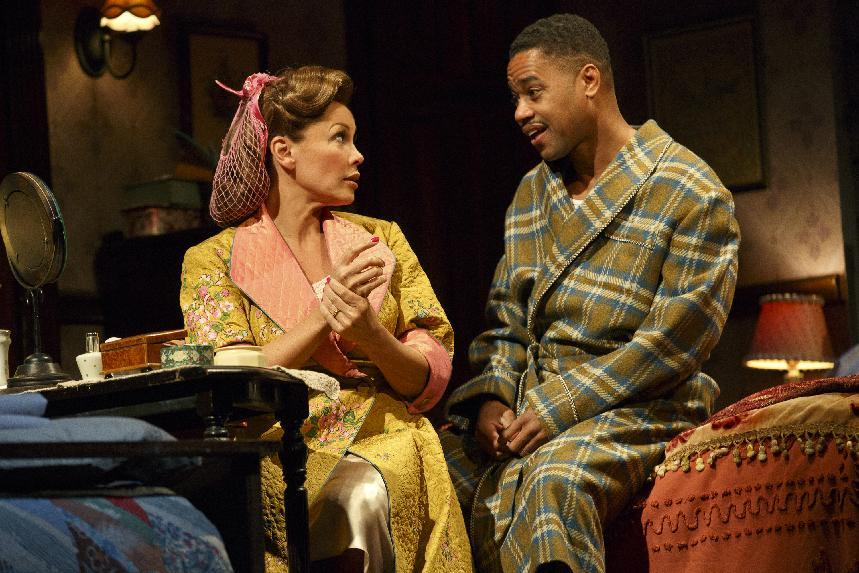 "This theater publicity image released by The Hartman Group shows Vanessa Williams, left, and Cuba Gooding Jr., during a performance of ""The Trip to Bountiful"" at the Stephen Sondheim Theatre in New York. (AP Photo/The Hartman Group, Joan Marcus)"