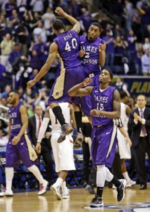James Madison beats Northeastern in CAA final
