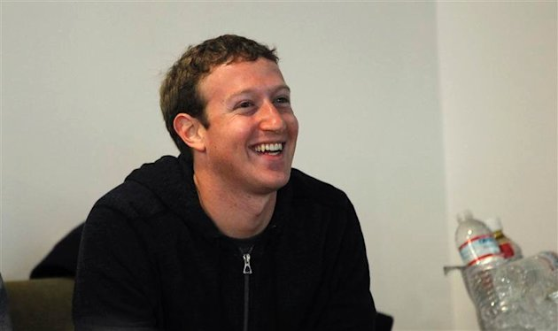 Facebook CEO Mark Zuckerberg smiles after addressing the audience during a media event at Facebook headquarters in Menlo Park, California March 7, 2013. REUTERS/Robert Galbraith