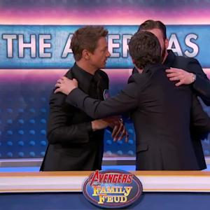 Avengers Cast Plays Family Feud DRUNK | What's Trending Now