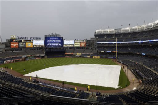 Dodgers-Yankees rained out, doubleheader set