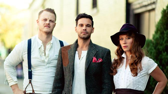 This publicity image released by Descendant Records shows members of The Lone Bellow, from left, Brian Elmquist, Zach Williams, and Kanene Pipkin. (AP Photo/Descendant Records)