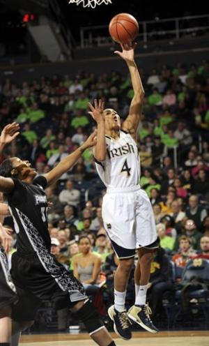 Diggins lead No. 2 Irish to 89-44 win over Friars