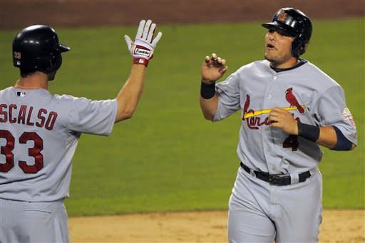 Cards edge Dodgers 2-1, extend wild-card lead
