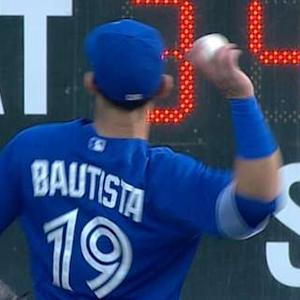 Bautista has fun with fans