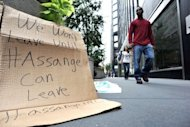 &lt;p&gt;A sign is placed by supporters of WikiLeaks founder Julian Assange outside the British Consulate in New York. WikiLeaks angered the United States by releasing tens of thousands of classified documents about the wars in Iraq and Afghanistan, as well as often unflattering reports of US diplomats&#39; views on world leaders.&lt;/p&gt;