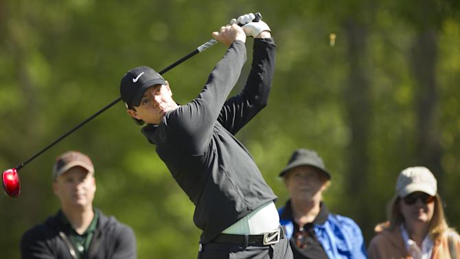 Rory McIlroy tees off on the second hole during the pro-am for the Houston Open golf tournament, Wednesday, March 27, 2013, in Houston. (AP Photo/Houston Chronicle, Brett Coomer) MANDATORY CREDIT