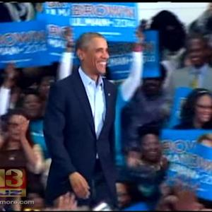 President Obama Rallies For Brown As Md's Next Governor