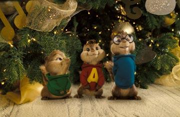 Theodore (voiced by Jesse McCartney ), Alvin (voiced by Justin Long ) and Simon (voiced by Matthew Gray Gubler ) in 20th Century Fox's Alvin and the Chipmunks