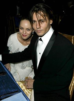 Vanessa Paradis and Johnny Depp Governor's Ball 76th Academy Awards - 2/29/2004