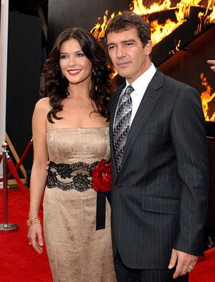 Catherine Zeta Jones and Antonio Banderas at the LA premiere of Columbia Pictures' The Legend of Zorro