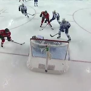 Hudler shows quick hands to beat Miller on PP