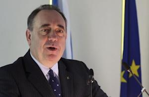 Scotland's First Minister Salmond delivers a speech at the College of Europe in Bruges