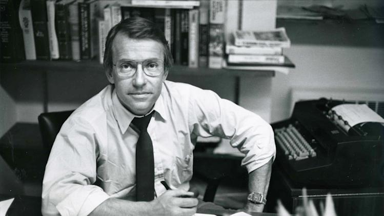 In this March 18, 1982 photo released by ABC, ABC News Richard Threlkeld is shown in his office in New York. Threlkeld, who worked for ABC News from 1982-89 and spent the majority of his career at CBS News, died Friday, Jan. 13, 2012, in Amagansett, N.Y., and was pronounced dead at Southampton Hospital. He lived nearby in East Hampton. (AP Photo/ABC Photo Archives)