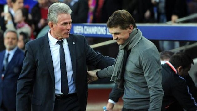 Bayern Munich coach Jupp Heynckes and his Barcelona counterpart Tito Vilanova (AFP)