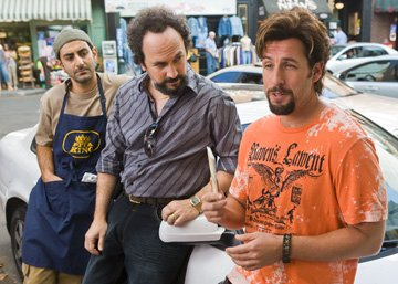 Ben Wise , Robert Smigel and Adam Sandler in Columbia Pictures' You Don't Mess With the Zohan