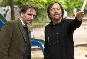 Ralph Fiennes and director Fernando Meirelles on the set of Focus Features' The Constant Gardener
