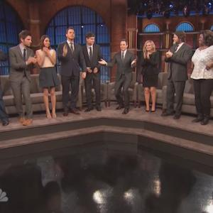 Cast of 'Parks And Recreation' Toast Each Other