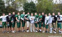 The Austin Prep football team from Reading, Mass.
