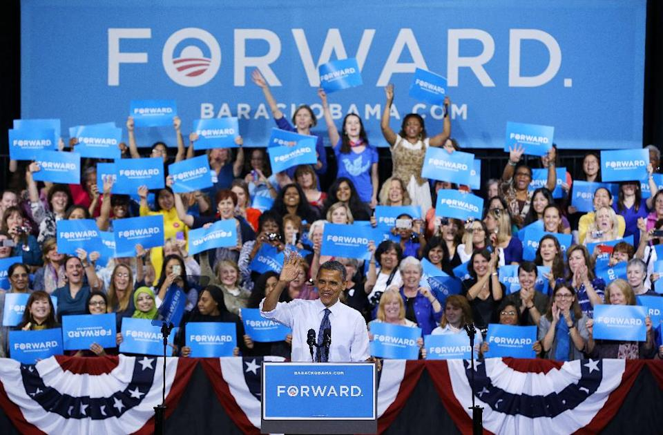 President Barack Obama speaks during a campaign event at George Mason University, Friday, Oct. 5, 2012, in Fairfax, Va (AP Photo/Pablo Martinez Monsivais)