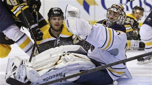 Vanek has 3G, 2A and Sabres beat Bruins 7-4